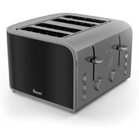 Buy Swan Retro 4 Slice Toaster - Black - Robert Dyas