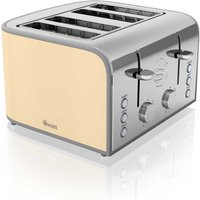 Buy Swan Retro 4 Slice Toaster - Cream - Robert Dyas