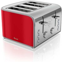 Buy Swan Retro 4 Slice Toaster - Red - Robert Dyas