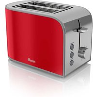 Buy Swan Retro 2 Slice Toaster - Red - Robert Dyas