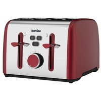 Buy Breville Colour Notes 4-Slice Toaster - Red - Robert Dyas