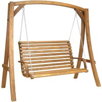Charles Bentley 3-Seater Wooden Garden Swing Seat
