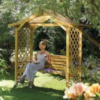 Rowlinson Dartmouth Garden Arbour Swing Seat