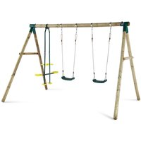 Plum Colobus Wooden Garden Swing Set