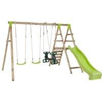 Plum Silverback Wooden Garden Swing Set