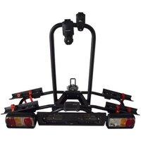 Menabo Naos Tilting Towbar Bike Rack for 2 Bikes - Black