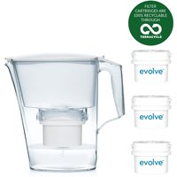 Aqua Optima Liscia Water Filter 2.5L Jug with 6 Month Starter Pack - White