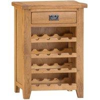 Robert Dyas Stockbridge Ready Assembled Oak Wine Cabinet
