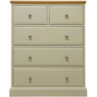 Vivianna Ready Assembled 5-Drawer Wide Chest of Drawers