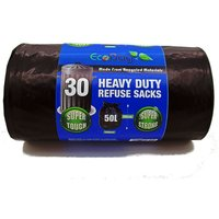 Robert Dyas Ecobag 50L Heavy Duty Bin Bags - 30 Pack