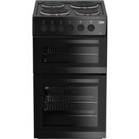 Beko KD533AK Double Oven Electric Cooker - Black