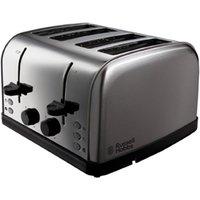Buy Russell Hobbs 18790 Futura 4-Slice Toaster - Stainless Steel - Robert Dyas
