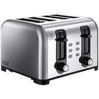 Buy Russell Hobbs 23540 Wide-Slot 4-Slice Toaster - Brushed Stainless Steel - Robert Dyas