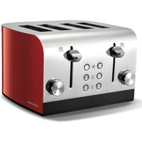 Buy Morphy Richards Equip 4-Slice Toaster - Red - Robert Dyas