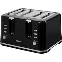 Buy Tower T20010 4-Slice Toaster - Black - Robert Dyas