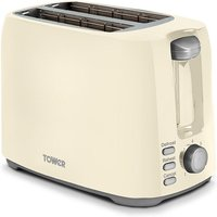 Buy Tower T20013C 2-Slice Toaster - Cream - Robert Dyas