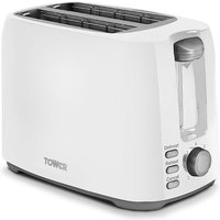 Buy Tower T20013W 2-Slice Toaster - White - Robert Dyas