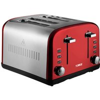 Buy Tower T20015R 4-Slice Toaster - Red - Robert Dyas
