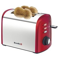 Buy Breville Stainless Steel Variable-Width 2-Slice Toaster - Red - Robert Dyas