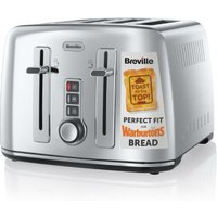 Buy Breville Perfect Fit for Warburtons 4-Slice Toaster - Stainless Steel - Robert Dyas