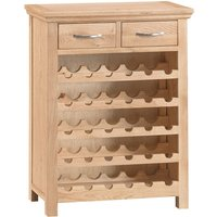 Robert Dyas Fenwin Ready Assembled Oak Wine Rack