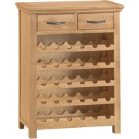 Robert Dyas Hindsley Ready Assembled Oak Wine Rack
