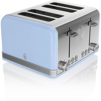 Buy Swan 4-Slice Retro Toaster - Blue - Robert Dyas