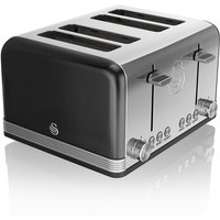 Buy Swan 4-Slice Retro Toaster - Black - Robert Dyas