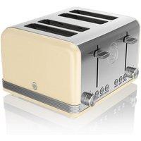 Buy Swan 4-Slice Retro Toaster - Cream - Robert Dyas