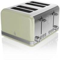 Buy Swan 4-Slice Retro Toaster - Green - Robert Dyas