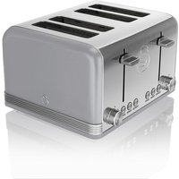 Buy Swan 4-Slice Retro Toaster - Grey - Robert Dyas