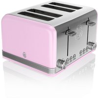 Buy Swan 4-Slice Retro Toaster - Pink - Robert Dyas