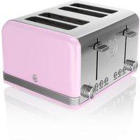 Buy Swan 4-Slice Retro Toaster - Pink - Robert Dyas