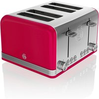Buy Swan 4-Slice Retro Toaster - Red - Robert Dyas