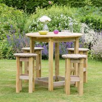 Zest4Leisure Bahama Large Round Table and 4-Stool Set - DISCONTINUED