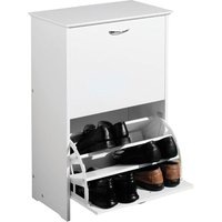 Premier Housewares Shoe Storage Cupboard - White