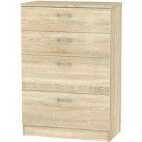 Robert Dyas Yelanto Ready Assembled 4-Drawer Chest of Drawers - Oak