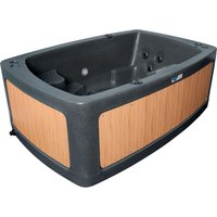 RotoSpa DuoSpa Compact S080 Hot Tub - Dark Grey/Teak