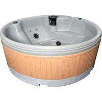 RotoSpa QuatroSpa Hot Tub - Light Grey / Teak