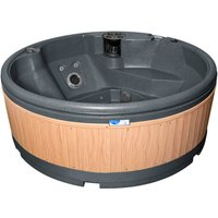 RotoSpa QuatroSpa Hot Tub - Dark Grey / Teak