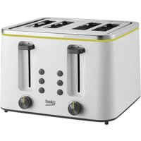Buy Beko New Line 4 Slice Toaster - White - Robert Dyas