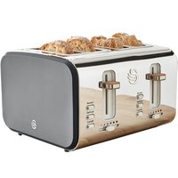 Buy Swan Nordic 4 Slice Toaster - Grey - Robert Dyas