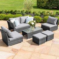 Maze Rattan Seville Sofa Set - Grey