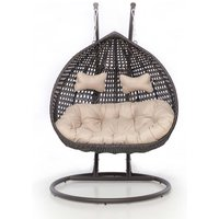 Maze Rattan Rose Hanging Chair - Brown