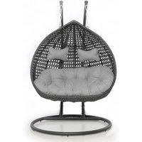 Maze Rattan Rose Hanging Chair - Grey