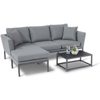 Maze Rattan Pulse Sofa Set - Grey