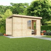 Mercia 28mm Single Glaze Zen Log Cabin - 2.5mx4m