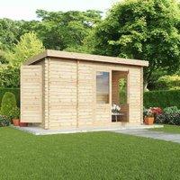 Mercia 28mm Double Glaze Zen Log Cabin - 2.5m x 4m