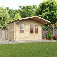 Mercia 28mm Single Glazed Retreat Zen Log Cabin - 4m x 3m