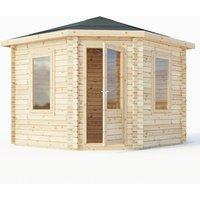 Mercia 28mm Double Glaze Corner Cabin - 3m x 3m